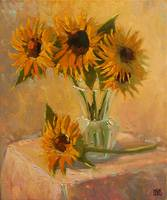 Sunflowers in a Sunny Room