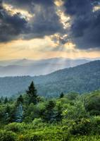 August Rays - Blue Ridge Mountains