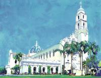 USD San Diego The Immaculata painting by Riccoboni