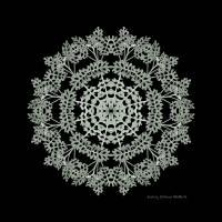 Summer {Silver Dust} Snowflake Art Prints & Posters by Wendy {Williams} MacRoberts