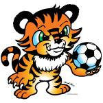 """Tiger Soccer Ball"" by ChuckClore"