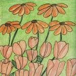 """""""Cone Flowers and Tulips"""" by jmeraz"""