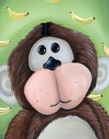 Monkey with Banana Background