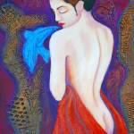 """Elusive Bluebird"" by Claudiafuenzalidajohns"