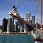 """Chicago Skyline and Tall Ship"" by Ffooter"