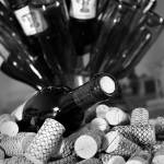 """Wine Bottles & Corks_B&W_7798"" by SBCountyImages"