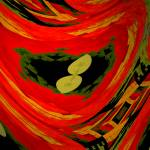 """Nasturtium abstract"" by Kirby"