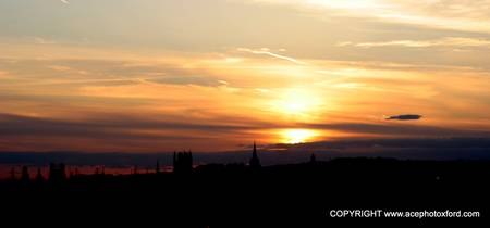 OXFORD SPIRES SUNSET.