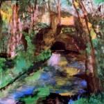 """The  little Bridge Pontoise"" by RickTodaro"