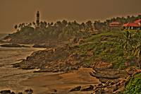 Kovalam beach in Trivandrum, Kerala, India