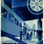 """Vintage 1932 Flyg Airline Travel Art"" by Johnny-Bismark"