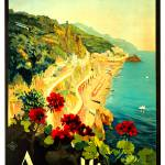 """Amalfi Italy Village Vintage 1939"" by Johnny-Bismark"