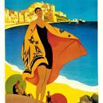 """""""La Plage de Calvi Vintage 1928"""" by Johnny-Bismark"""