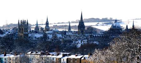 OXFORD UNIVERSITY SNOWSCAPE,ENGLAND