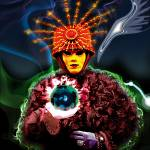 """Nagual - magician with mask and crystal ball in hi"" by vladimir77"