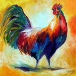 """RED WING ROOSTER"" by MBaldwinFineArt2006"