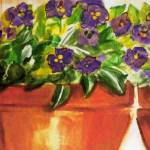 """Pansy View"" by debbiepaints"