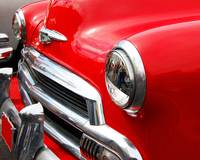 Classic Car Red Chevrolet