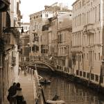 """Lovers Stroll along Venetian Waterway"" by SLphotography"