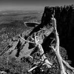 """""""Tam McArthur Rim and 3 Creeks Lake (black & white)"""" by aphimages"""