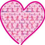 """Breast Cancer Awareness Heart"" by crazyabouthercats"