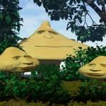 """mushroom family goes to the park"" by AllyanaZiolko"
