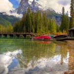 """Emerald Lake Canoes"" by pmgraham"