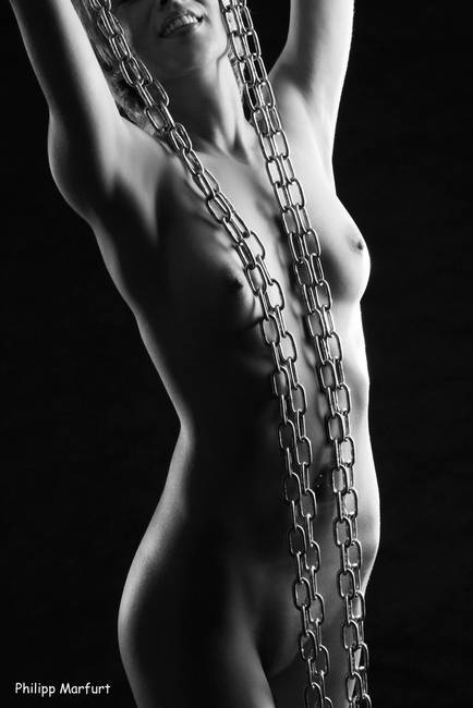 on a black girl chain Naked