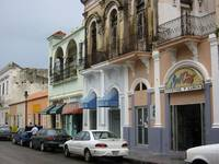 Street in Ponce: The old and the new