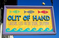Out of Hand shop sign