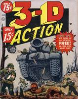 3-D Action Military Comic Book