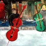 """""""2 Cello Players / Rooftop"""" by RickTodaro"""