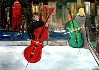 2 Cello Players / Rooftop