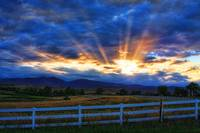 Country Sunbeam Sunset