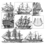 """""""Schooners Sailing"""" by GilWarzecha"""