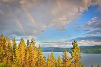 Rainbow over Coeur D' Alene Lake