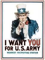 Uncle Sam I Want You for U.S. Army