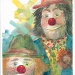 """Clown Faces"" by DoyleArts"
