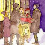 """Christmas Carolers"" by BrushandLens"