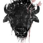 """bison head"" by trevor"