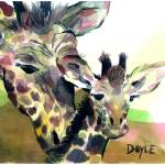 """Bailey Girl Giraffe"" by DoyleArts"