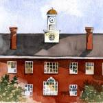 """Bryan Hall Ohio University"" by DoyleArts"