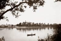 Canoeing on Lake Merritt c1880 by WorldWide Archive