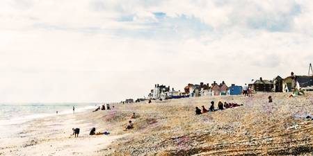 Aldeburgh Village and Beach as Monet would've view