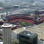 """Busch Stadium as seen from the Arch"" by mroyal43"