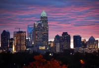 Charlotte Skyline at Sunset