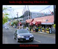 Sunday Traffic Main Drag White Rock BC
