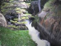McHugh State Park Waterfall, Chugach National Fore
