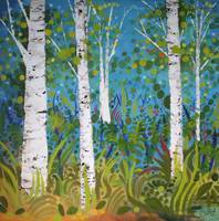 Whimsical Birches