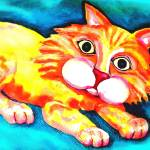 """the orange cat"" by IrisGrover"